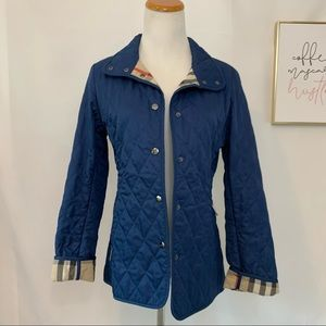 Burberry classic navy quilted jacket